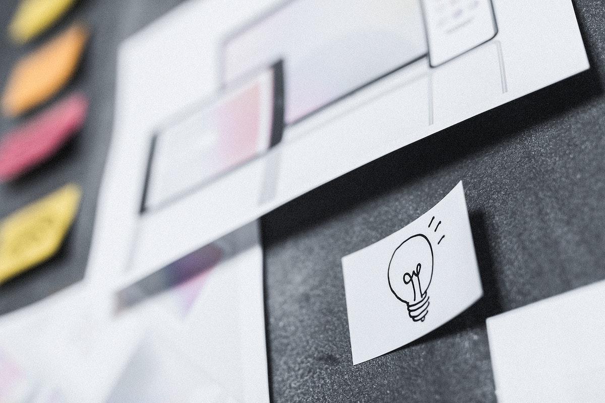 Business plan on a blackboard