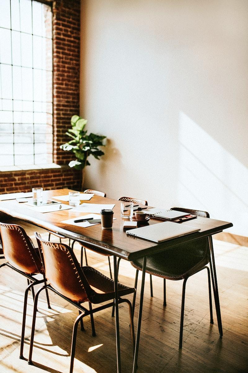 Meeting room during a break