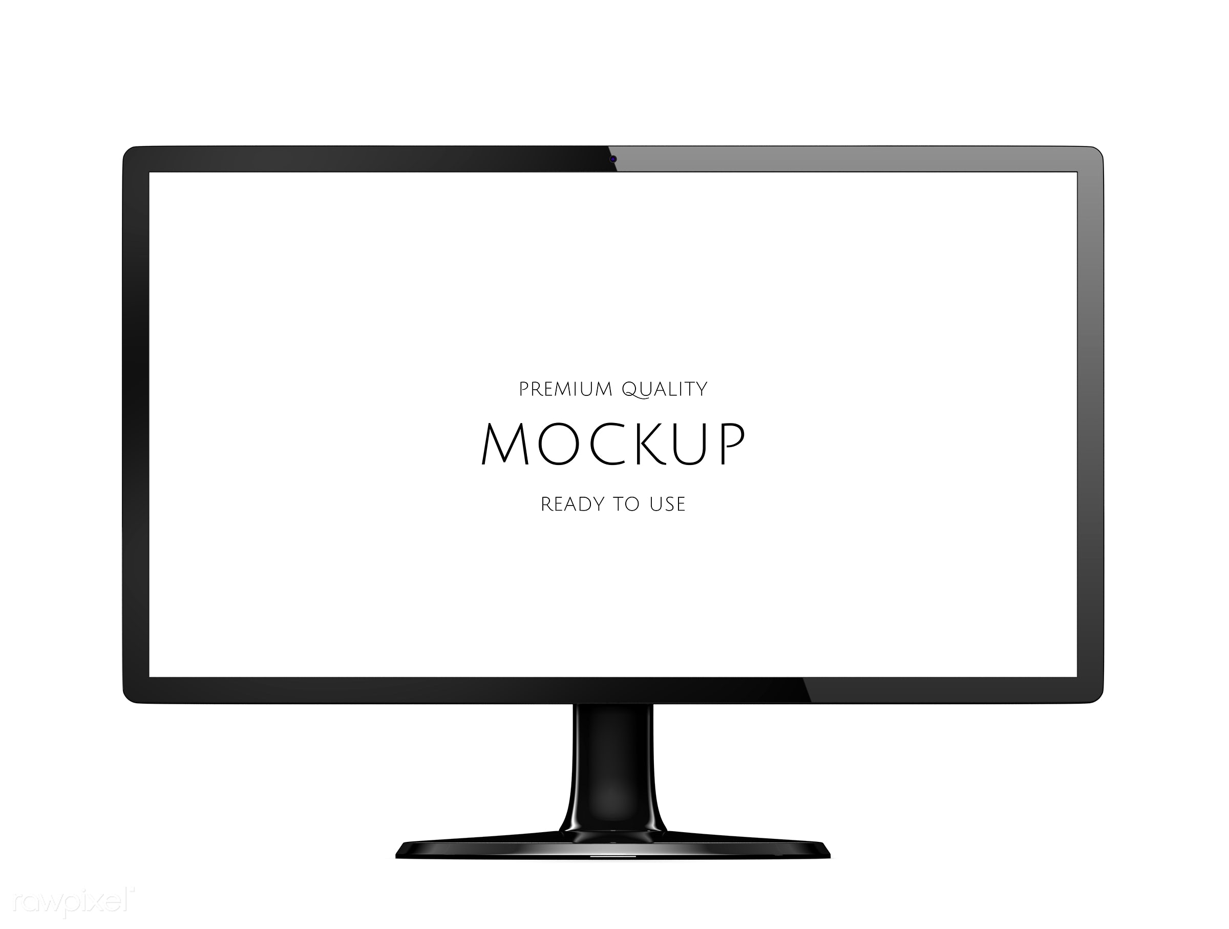 Three dimensional image of computer monitor mockup - psd, monitor, 3d, background, blank space, communication, computer,...