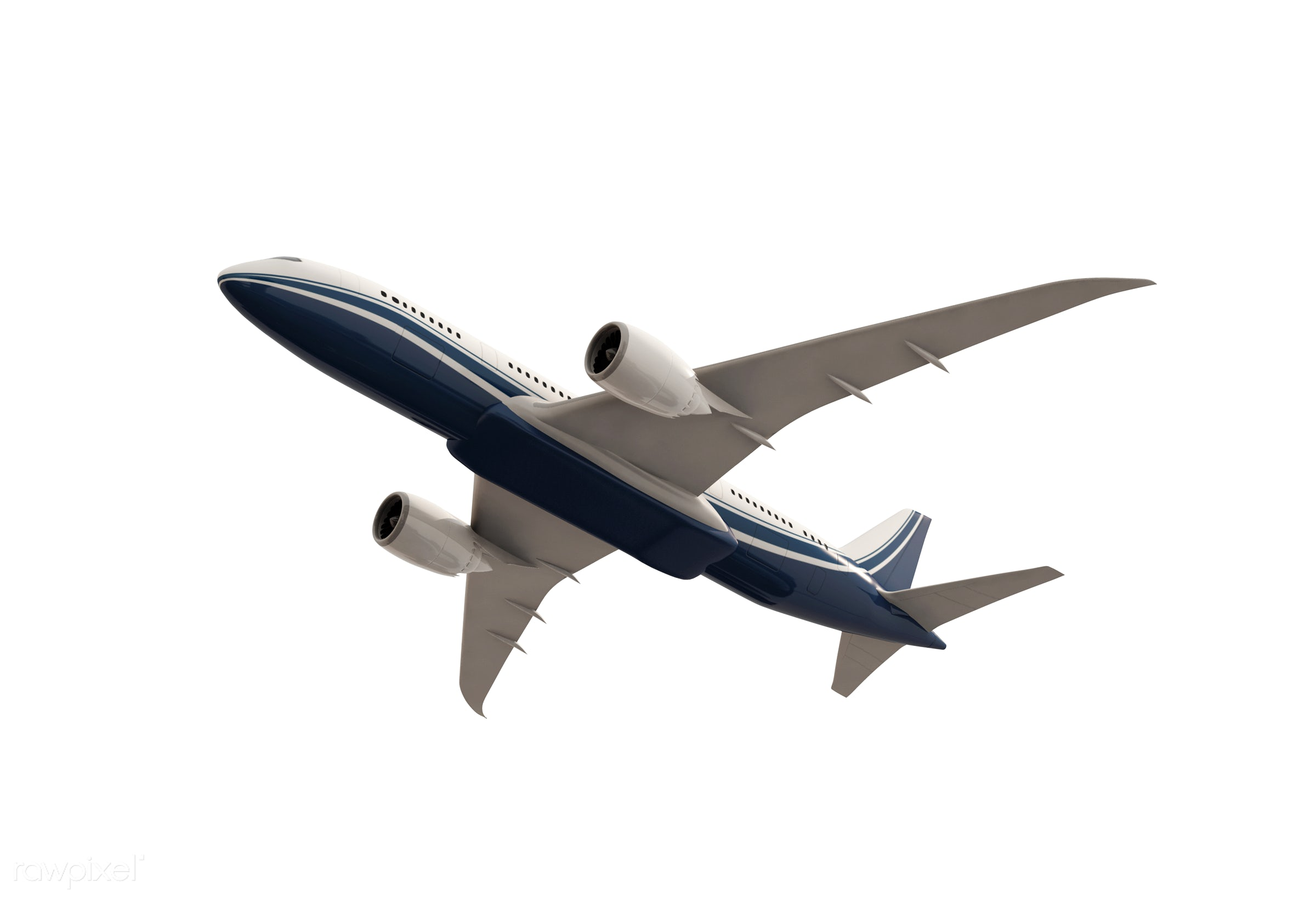 Three dimensional image of an airplane - airplane, 3d, aeroplane, aircraft, airline, aviation, exploration, flight, fly,...