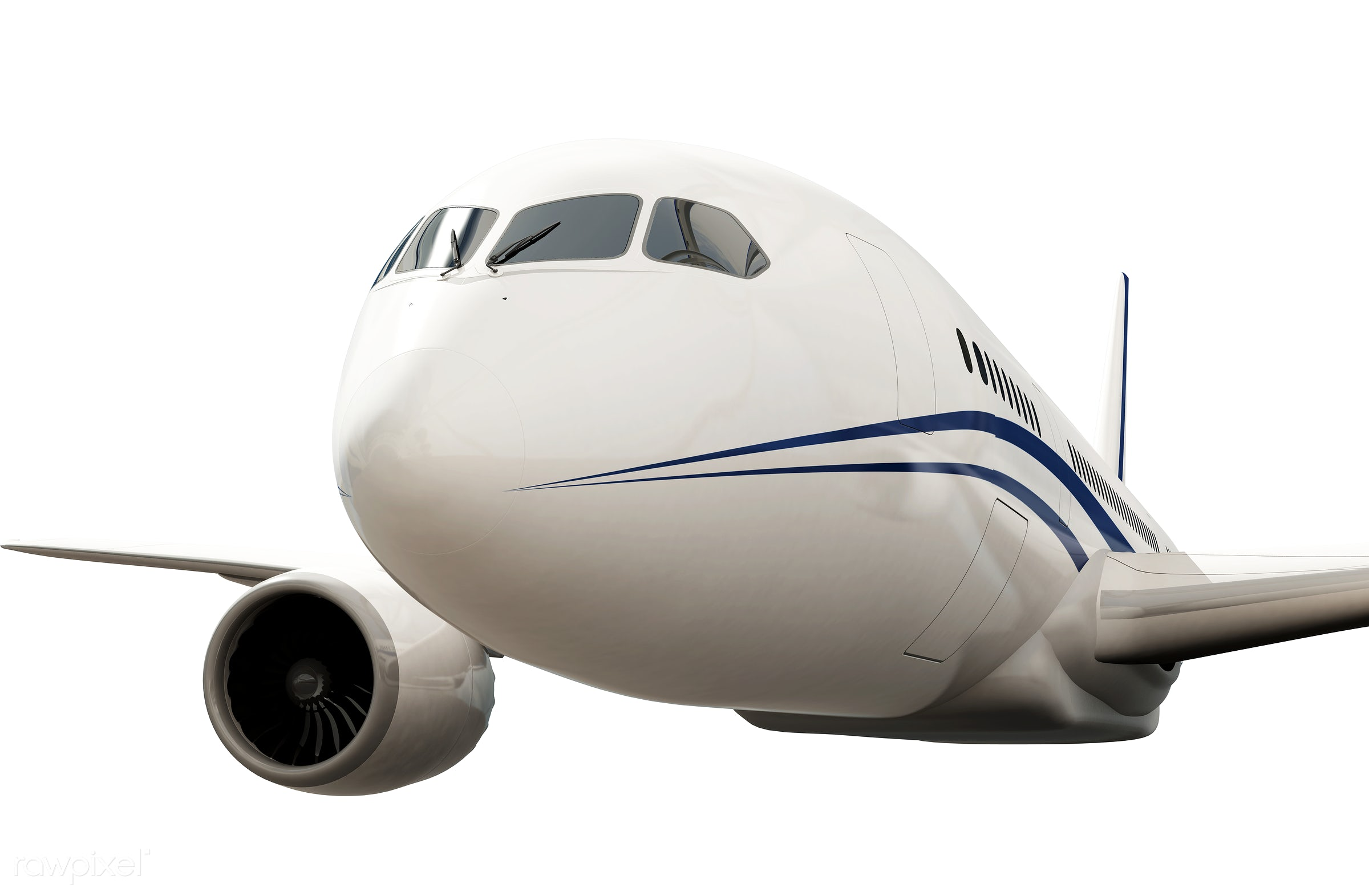Three dimensional image of an airplane - 3d, aeroplane, aircraft, airline, airplane, aviation, exploration, flight, fly,...