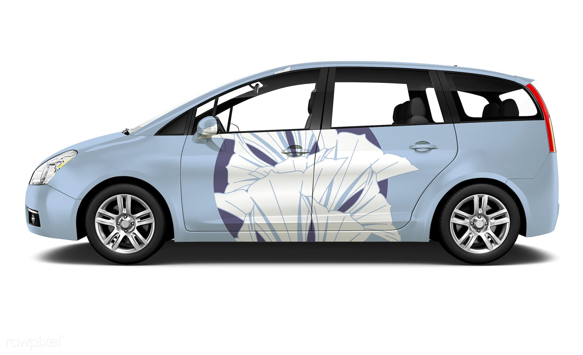 Three dimensional image of car - 3d, automobile, automotive, background, blue, brandless, car, concept car, creativity,...