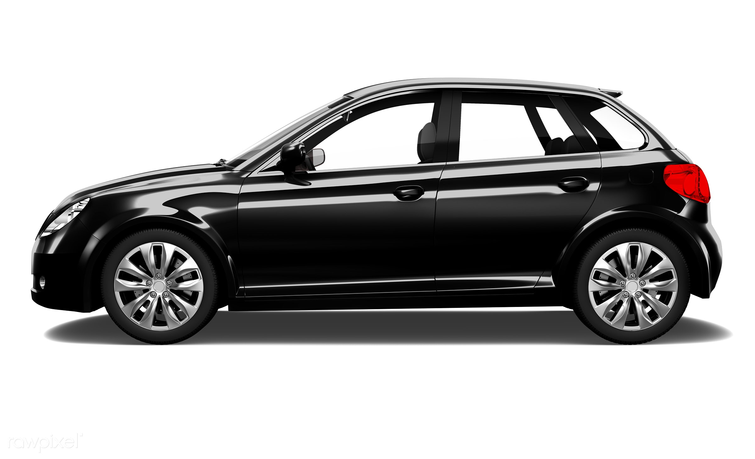 Three dimensional image of car - 3d, automobile, automotive, black, brandless, car, concept car, graphic, hatchback, holiday...
