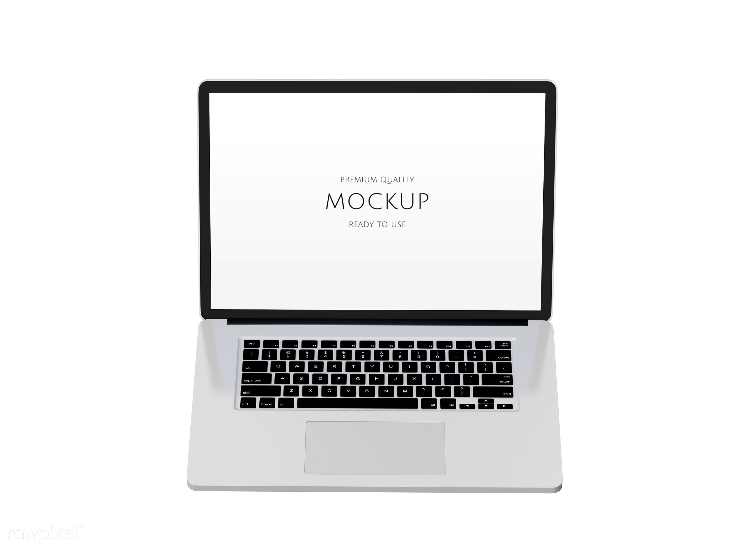 Three dimensional image of laptop - psd, 3d, background, blank space, communication, computer, connect, connection, copy...