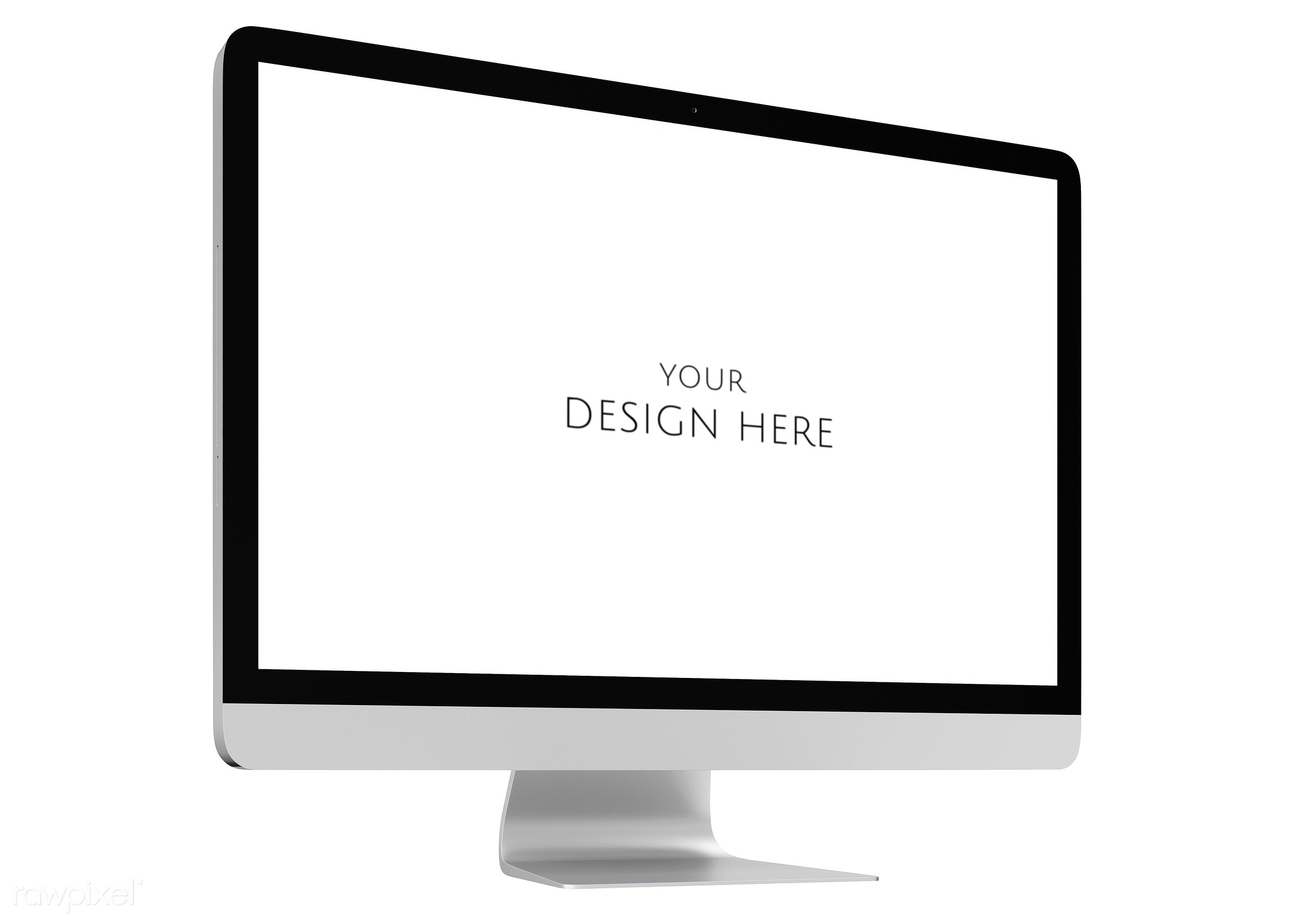 Three dimensional image of computer - mock up, psd, 3d, background, blank space, communication, computer, connect,...