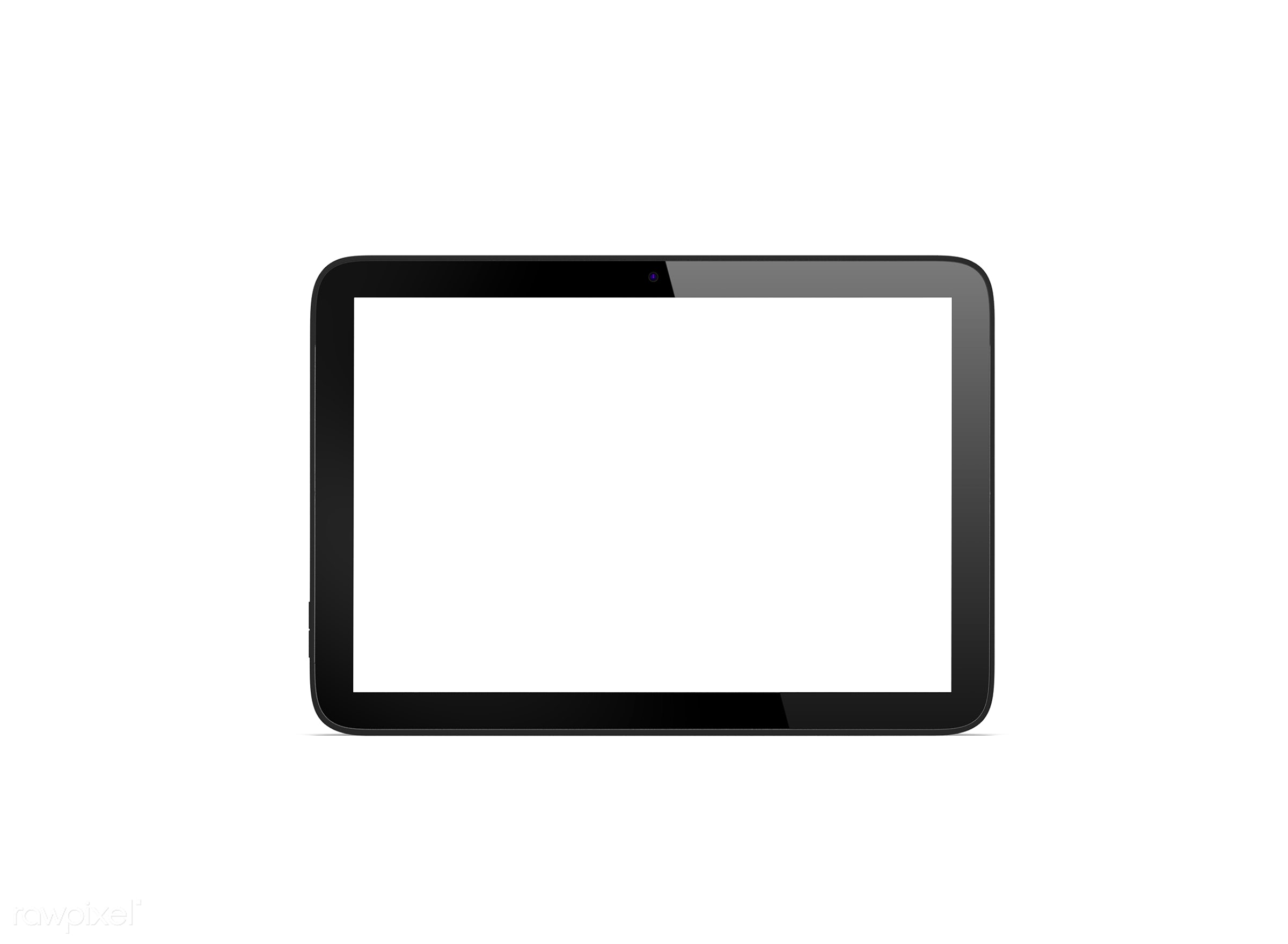 Three dimensional image of digital tablet - 3d, background, blank space, communication, connect, connection, copy space,...