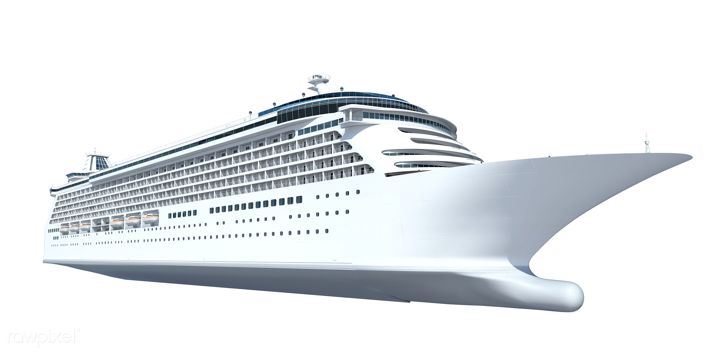 Three dimensional image of a cruise ship - boat, psd, sea, 3d, cruise, cruise ship, exploration, getaway, graphic, holiday,...