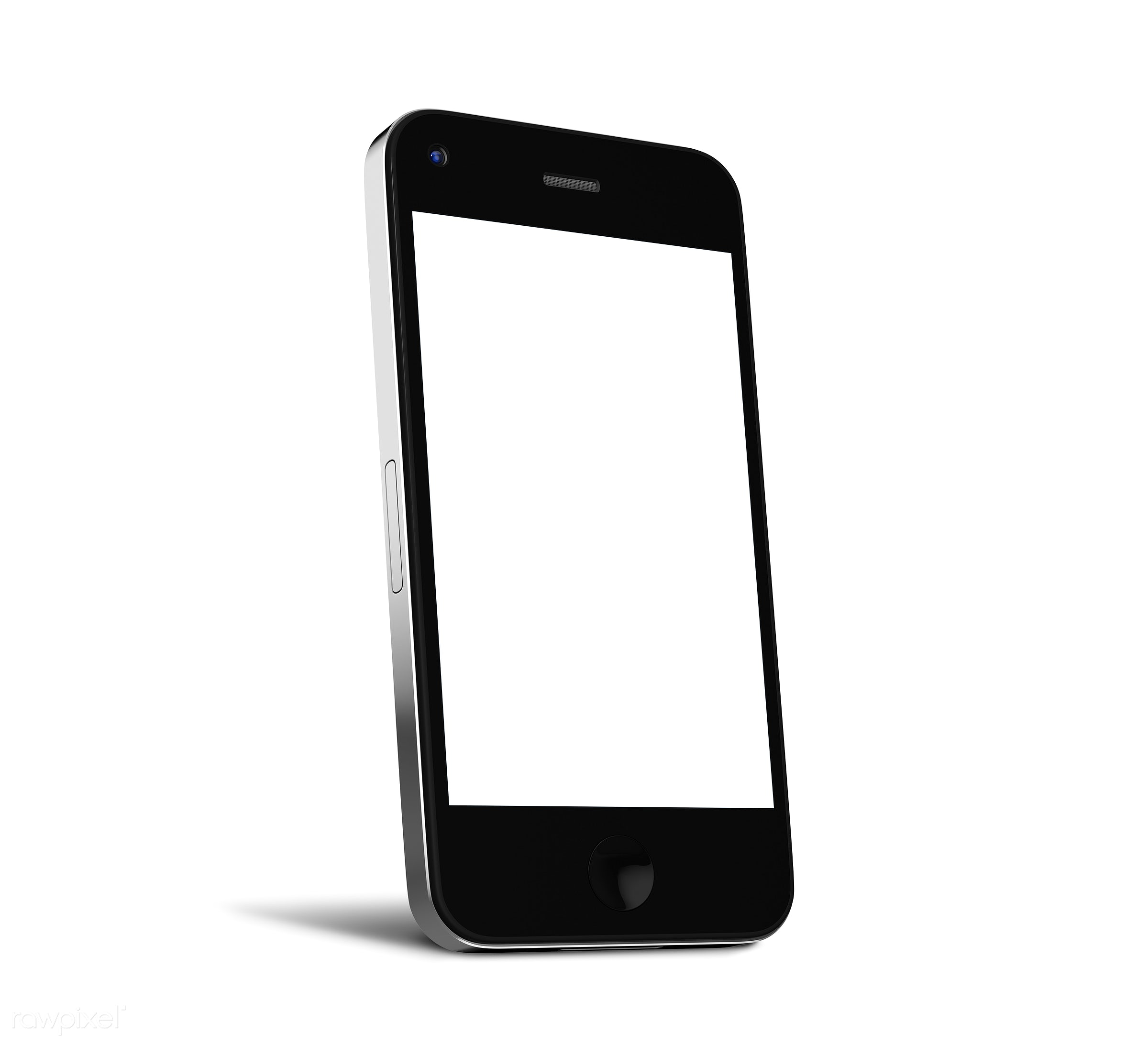 Three dimensional image of mobile phone - mobile phone, monitor, 3d, background, blank space, cellphone, cellular phone,...