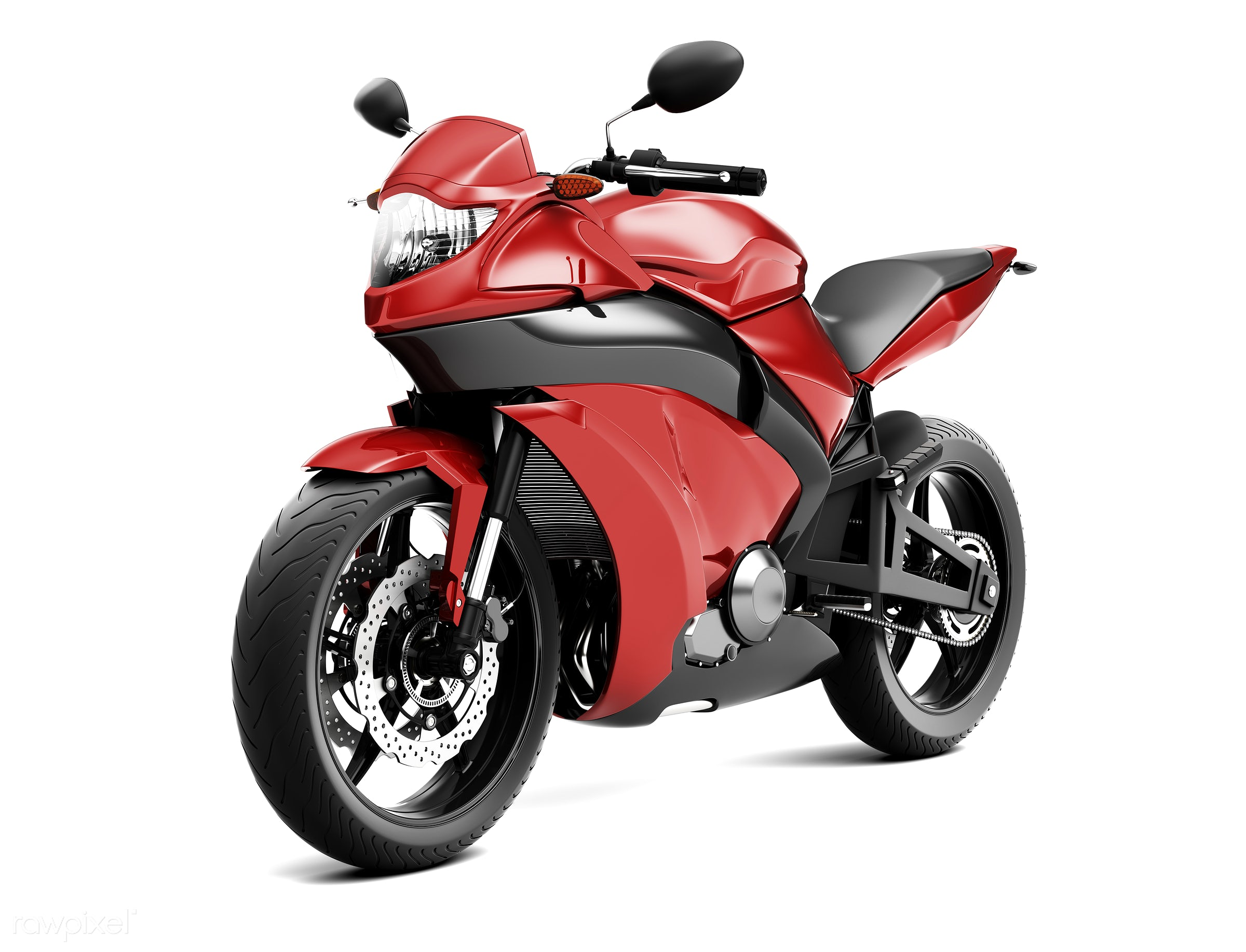 Three dimensional image of motor bike - 3d, automobile, automotive, bike, cool, graphic, holiday, illustration, itinerary,...