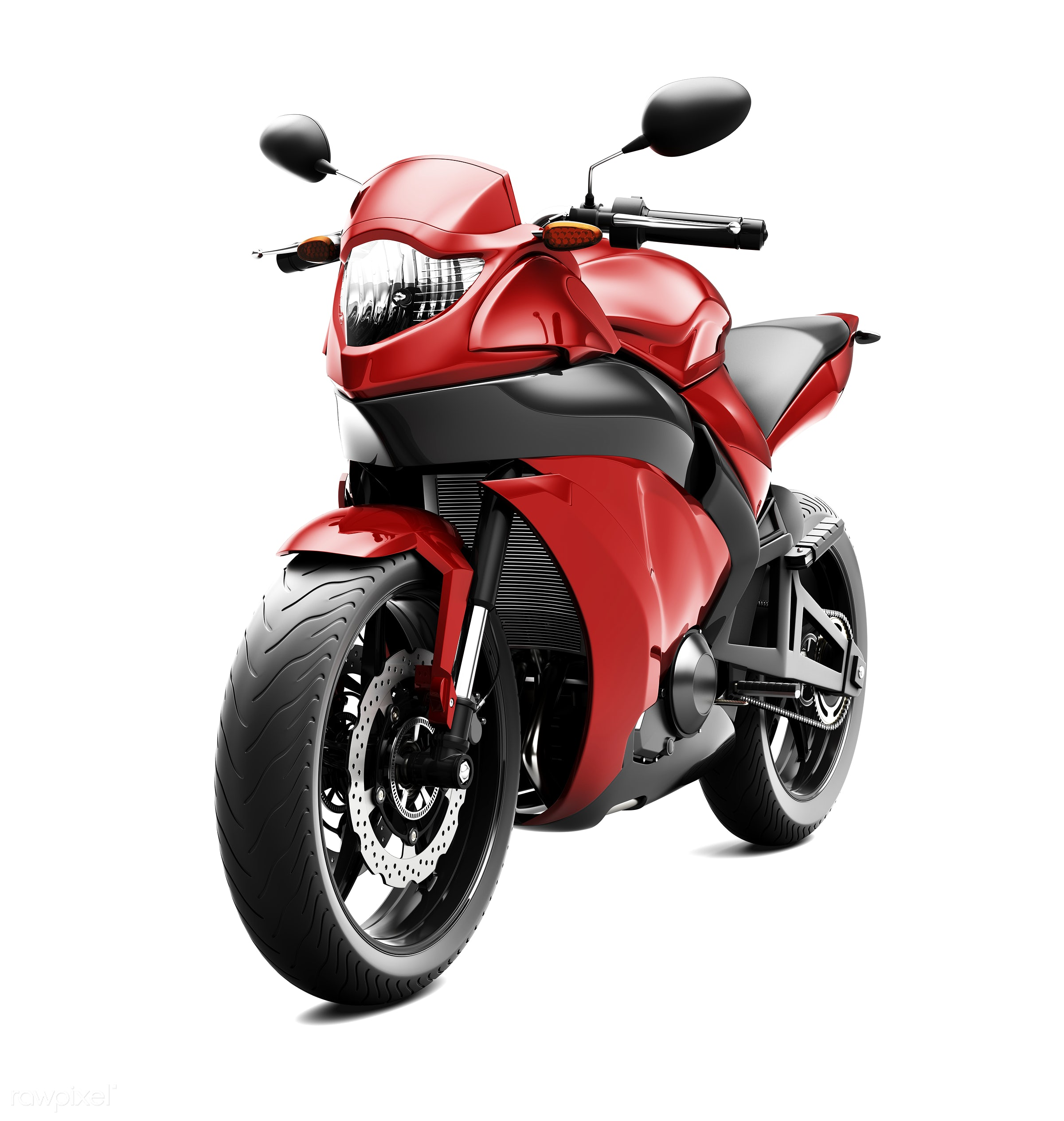 Three dimensional image of motor bike - motorcycle, 3d, automobile, automotive, bike, cool, graphic, holiday, illustration,...
