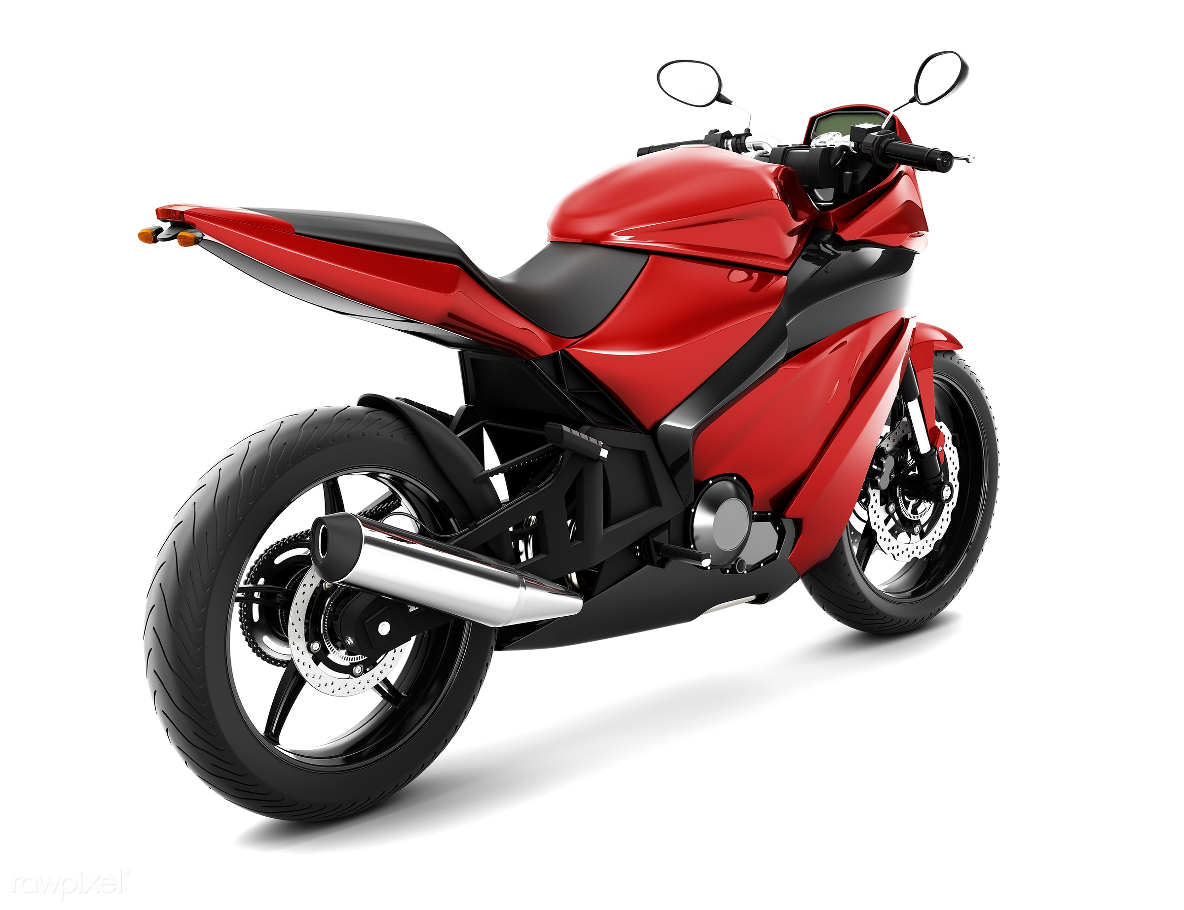 Three dimensional image of motor bike - bike, 3d, automobile, automotive, cool, graphic, holiday, illustration, itinerary,...