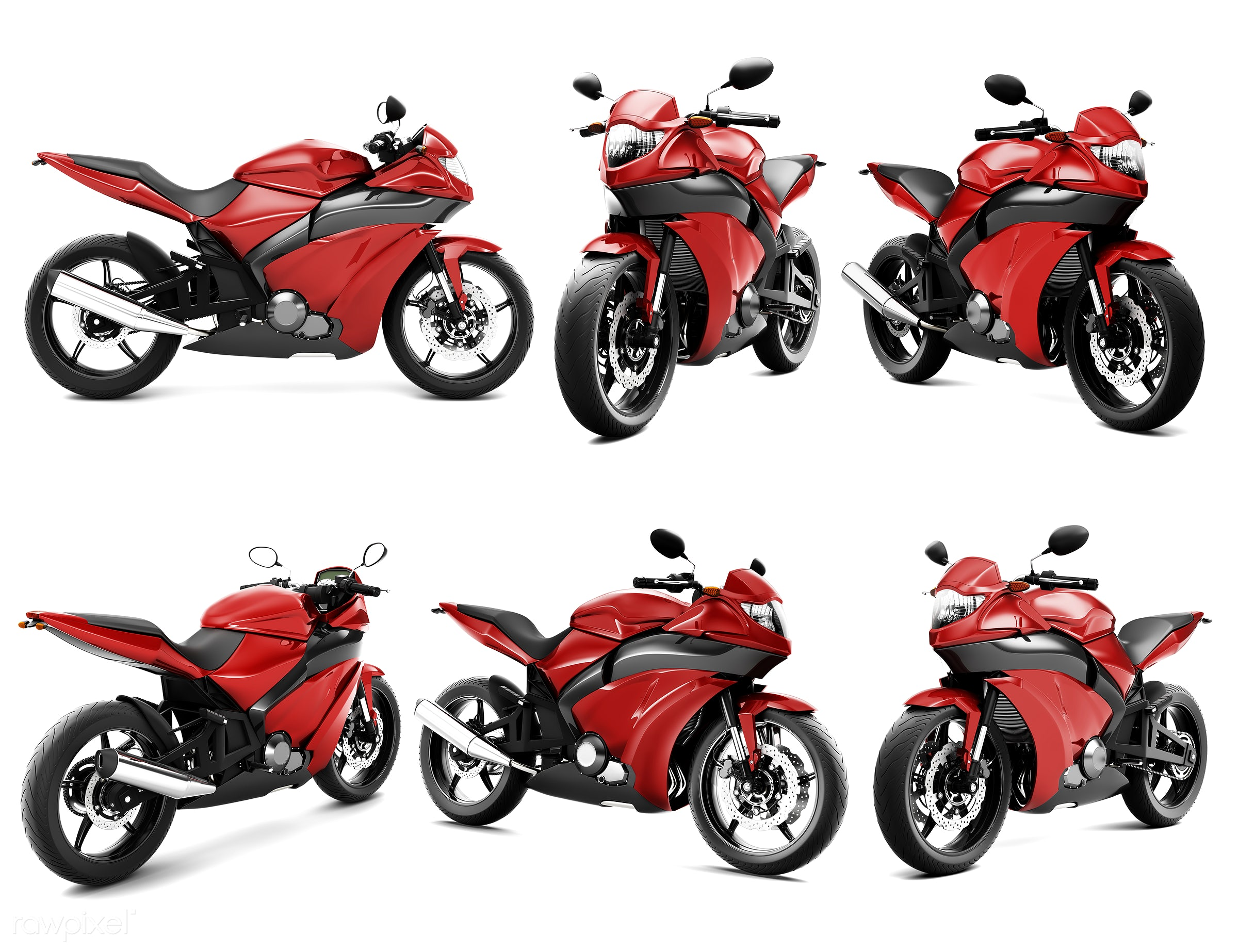 Three dimensional image of motor bike - bike, 3d, automobile, automotive, collection, cool, graphic, holiday, illustration,...