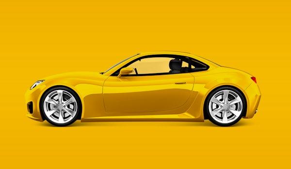 Download Yellow Sports Car Royalty Free Psd Mockup 563763 PSD Mockup Templates