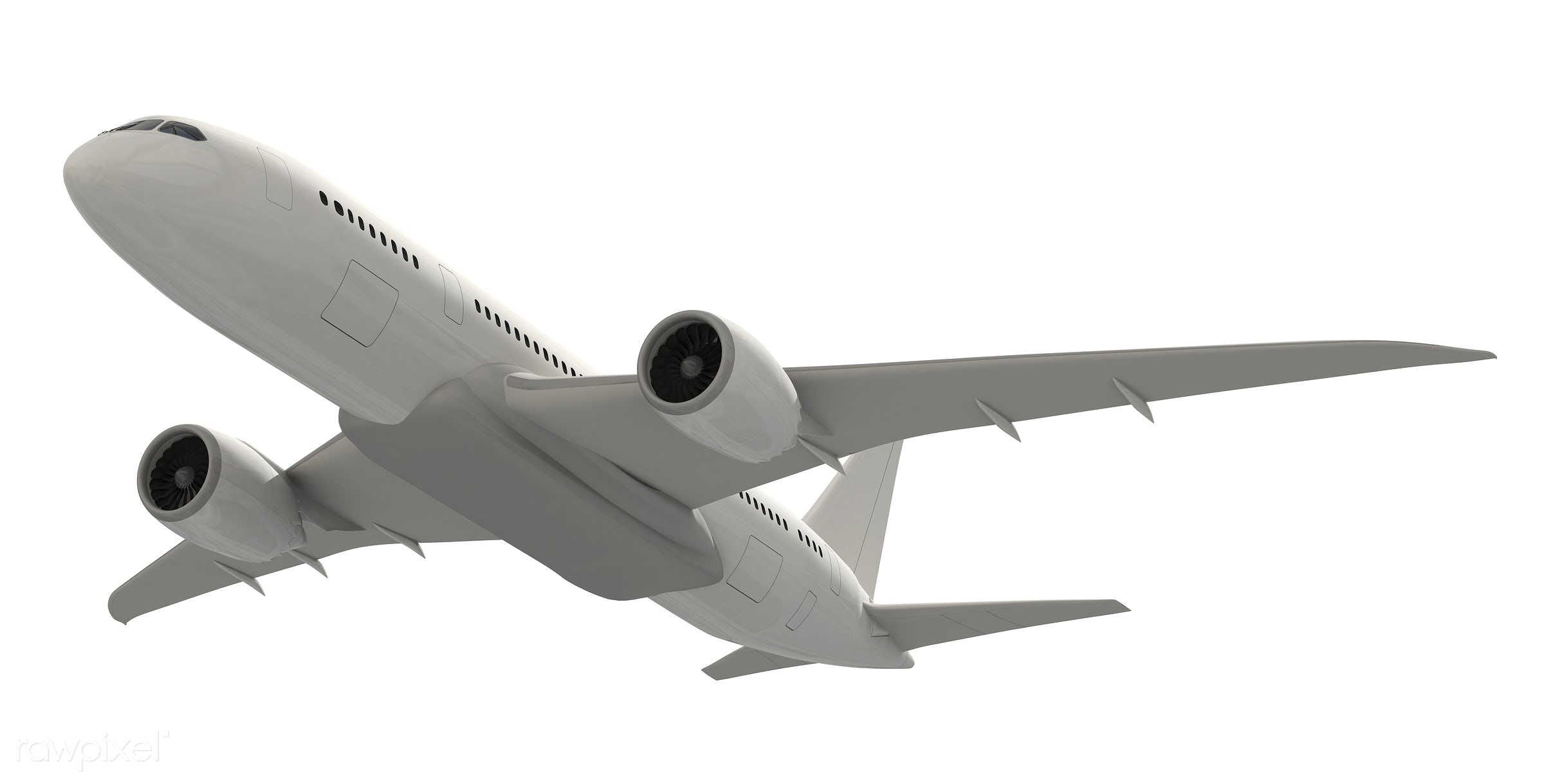 Three dimensional image of an airplane - 3d, aeroplane, air vehicle, aircraft, airline, airplane, aviation, exploration,...