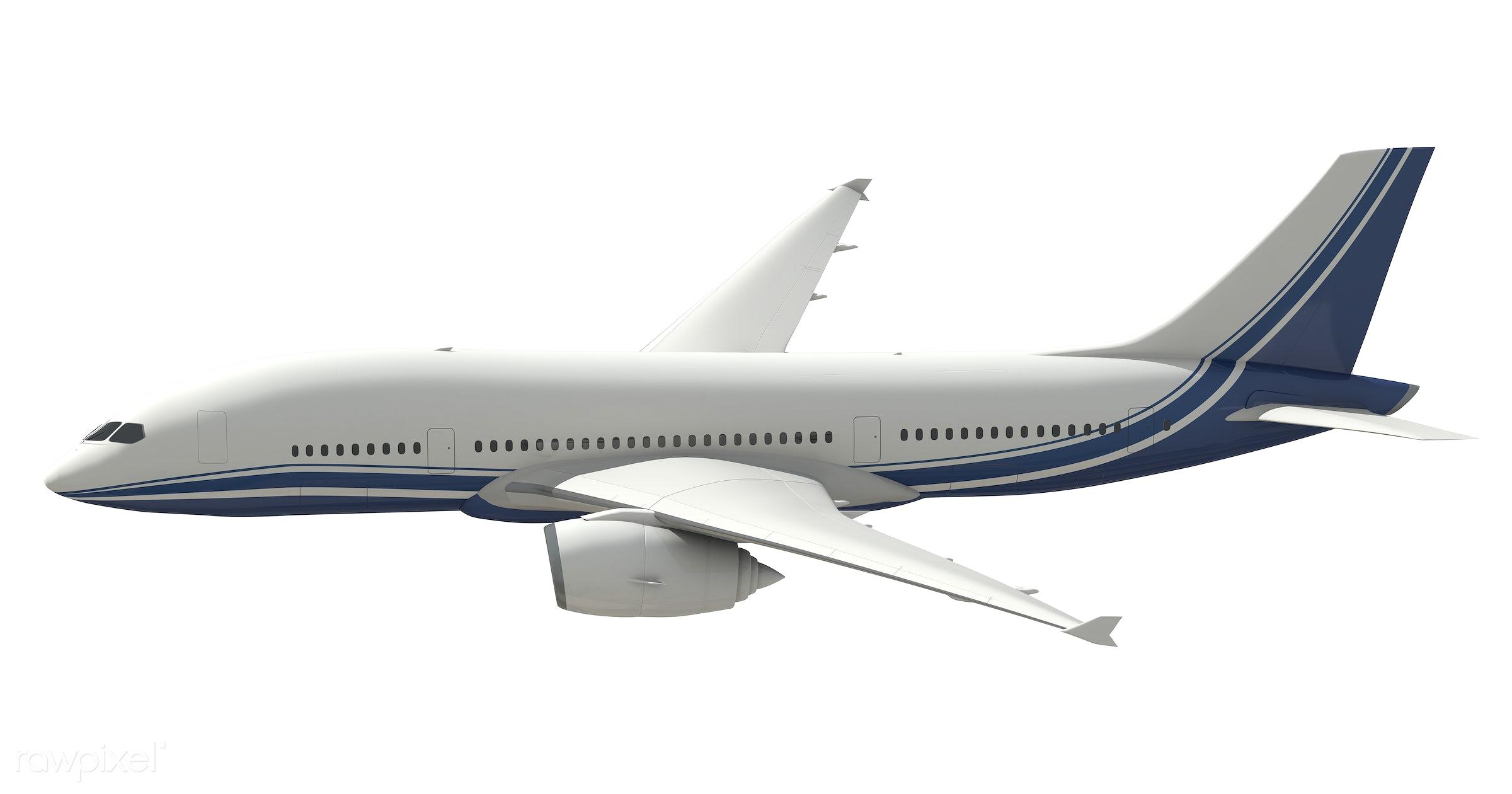 Three dimensional image of an airplane - airplane, plane, 3d, aeroplane, air vehicle, aircraft, airline, aviation,...
