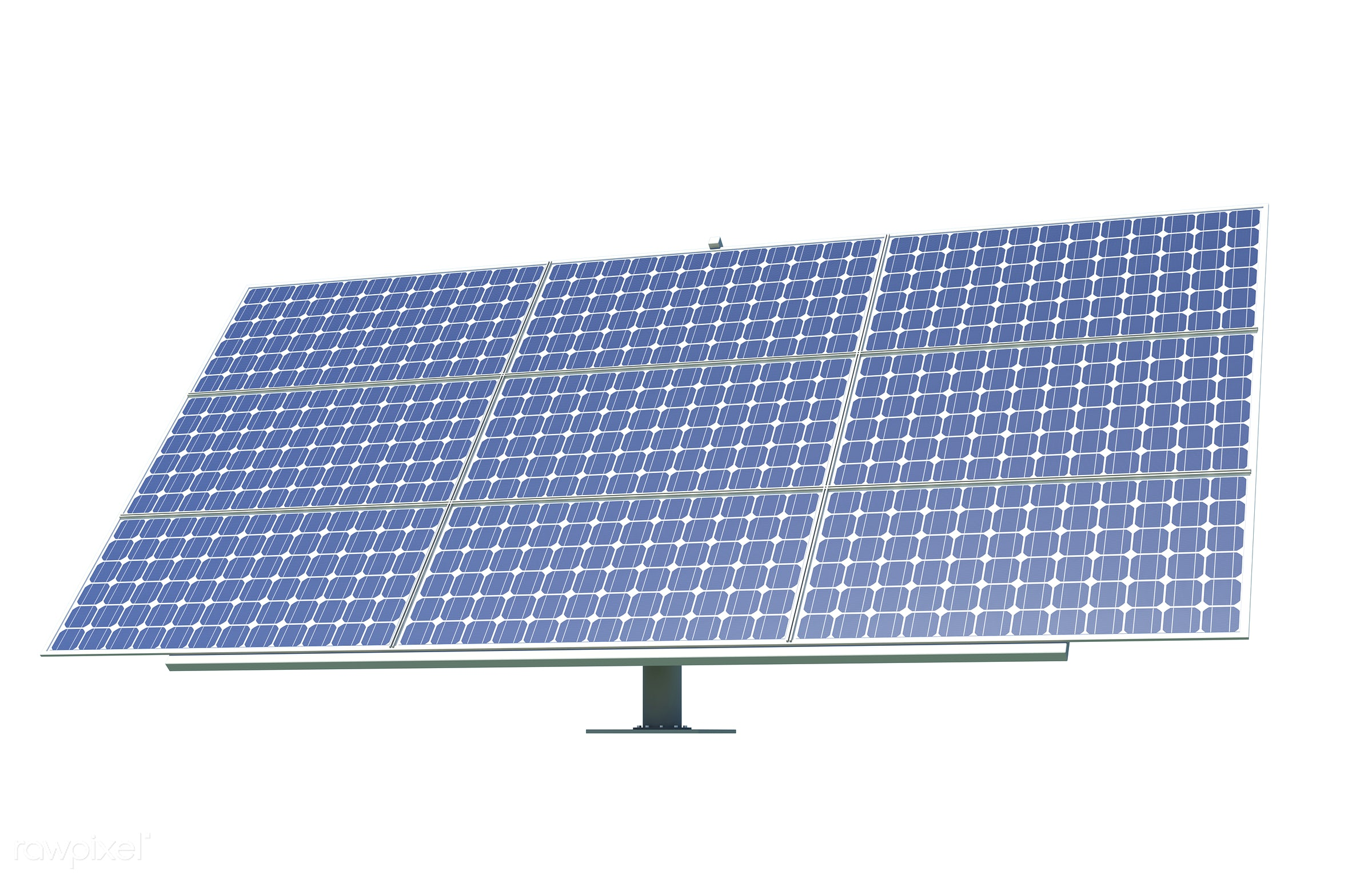 Three dimensional image of solar cell panel - 3d, alternative, cell, ecology, electric, electrical, electricity, energy,...