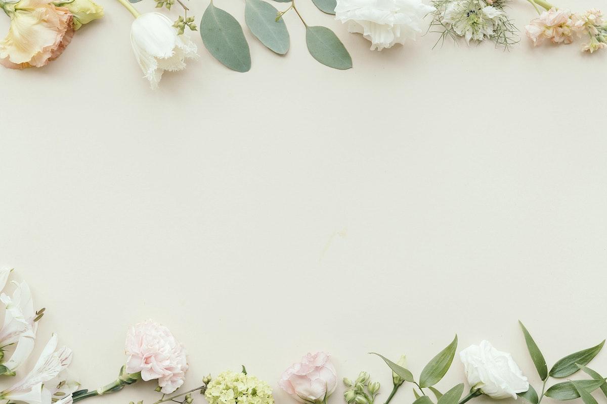 Blank fresh flower pattern background template