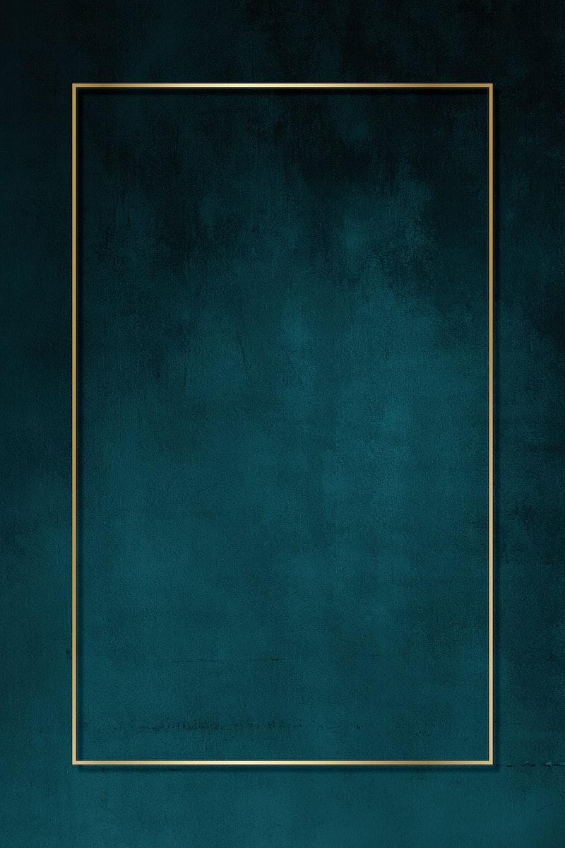 Blank golden frame mockup design