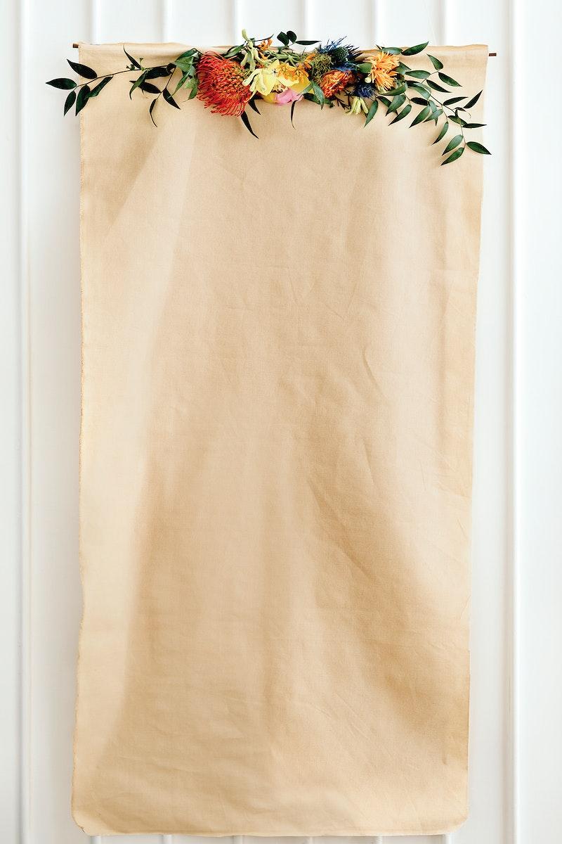 A brown paper mockup
