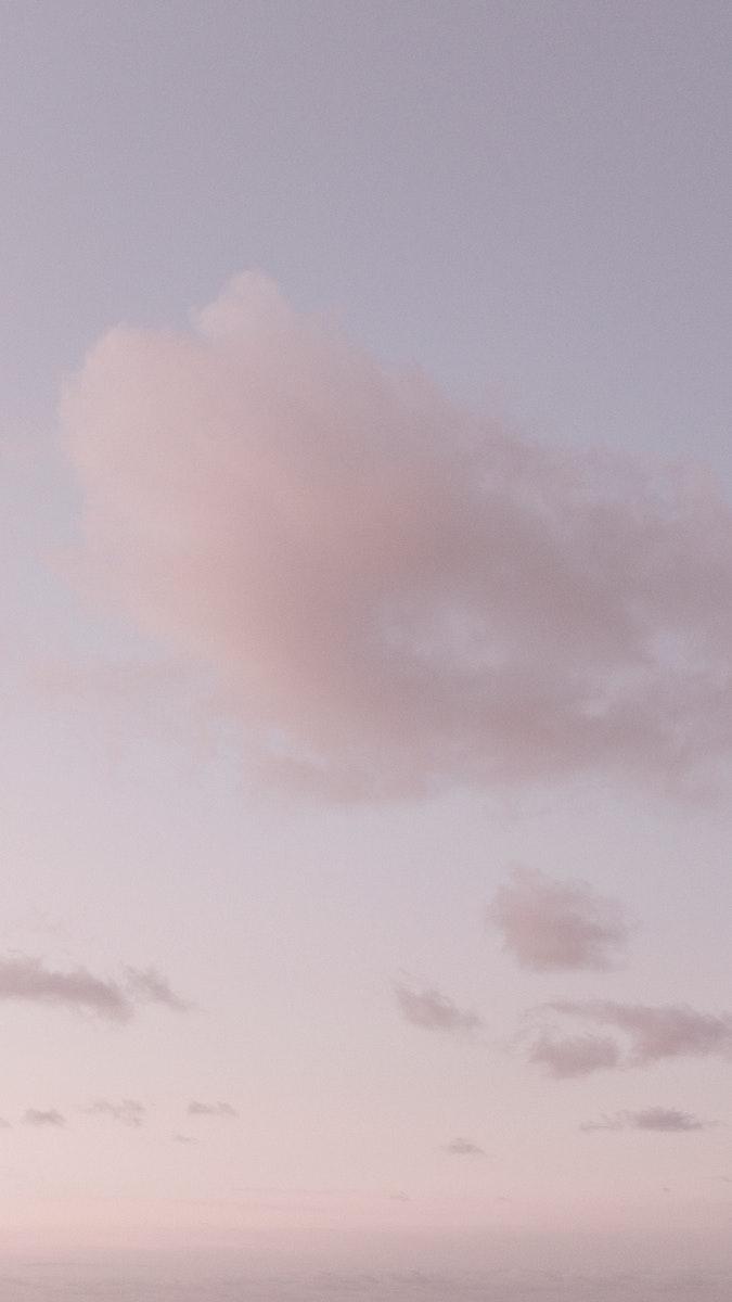 Pink sky mobile phone wallpaper