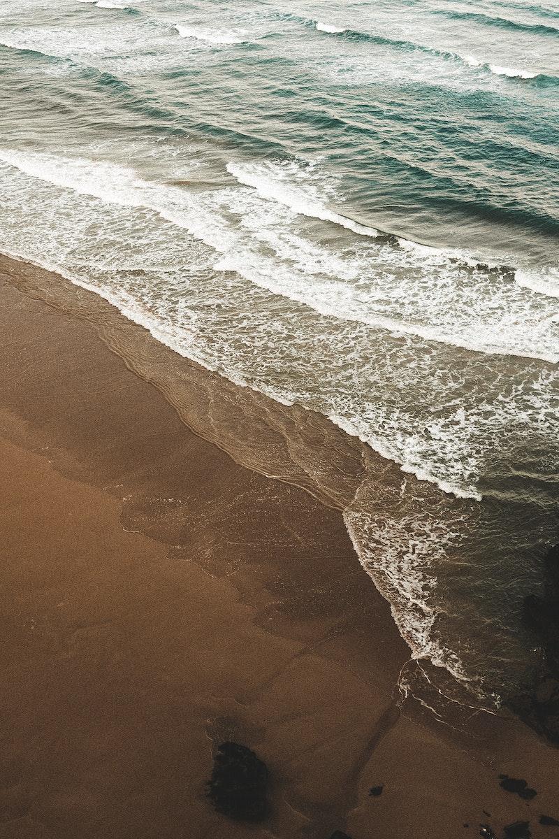 Beautiful beach waves on the seashore