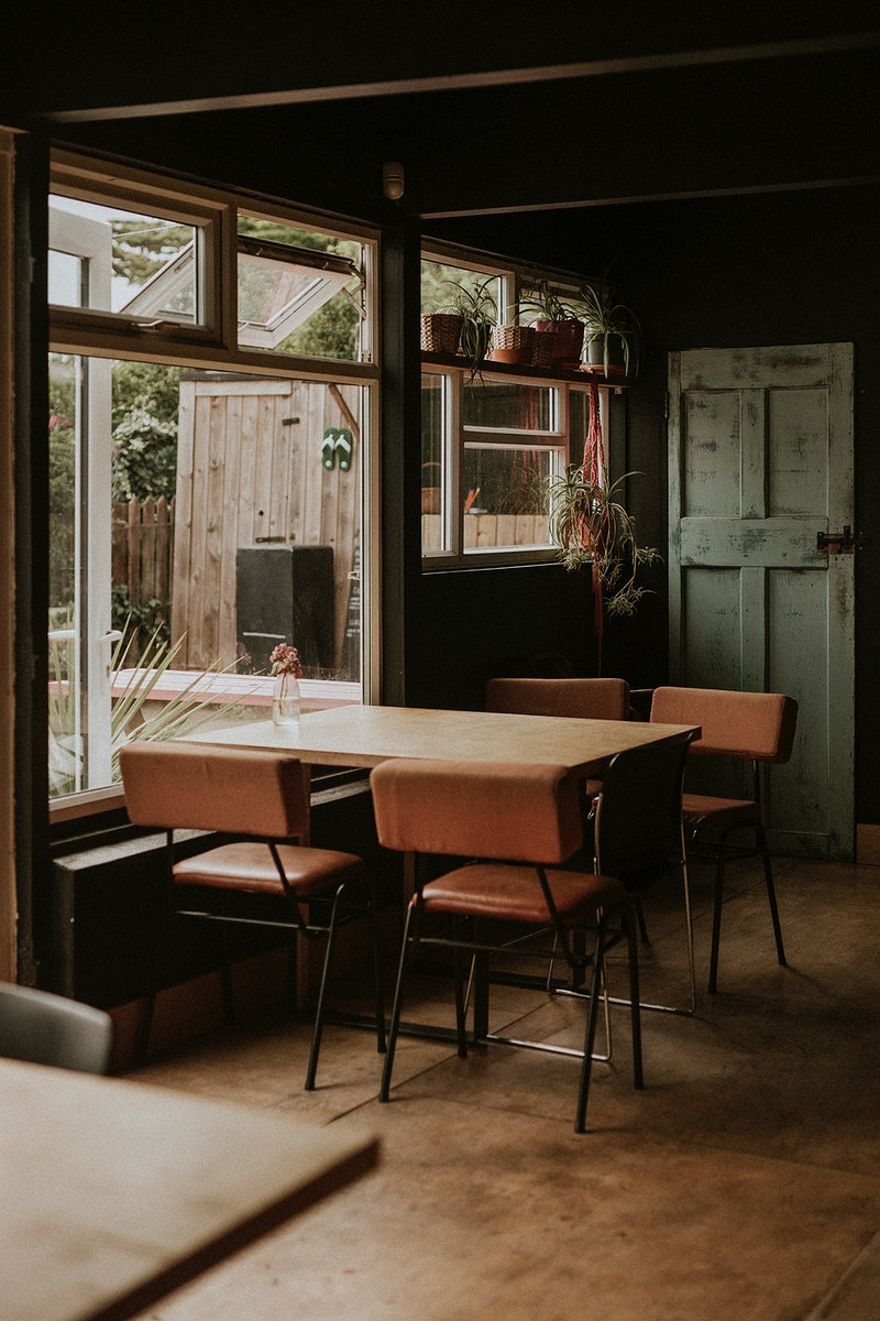 Vintage corner in a restaurant