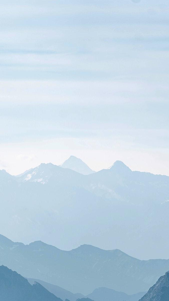 Fog taking over Chamonix Alps in France mobile phone wallpaper