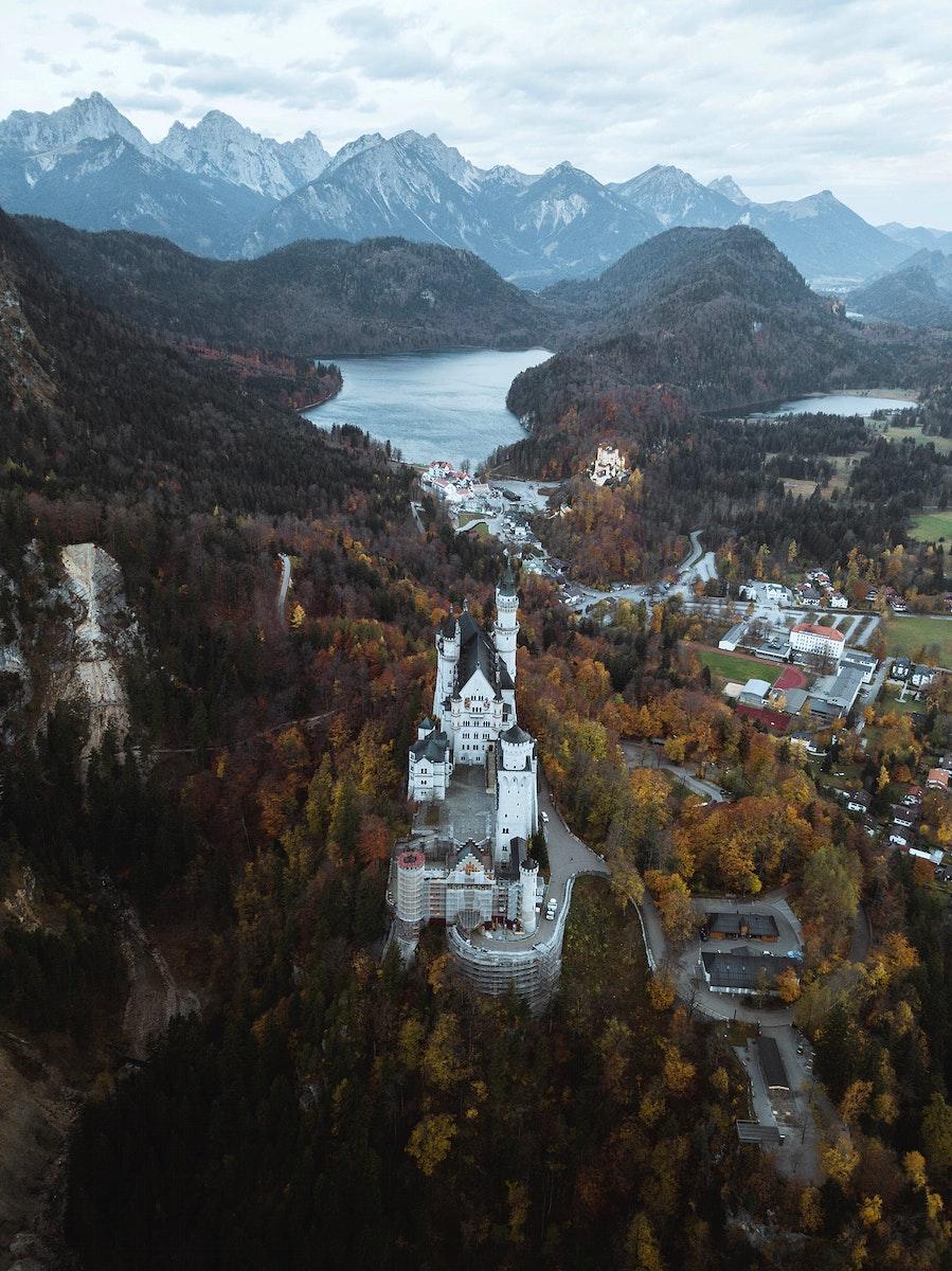 Neuschwanstein Castle during autumn, Germany