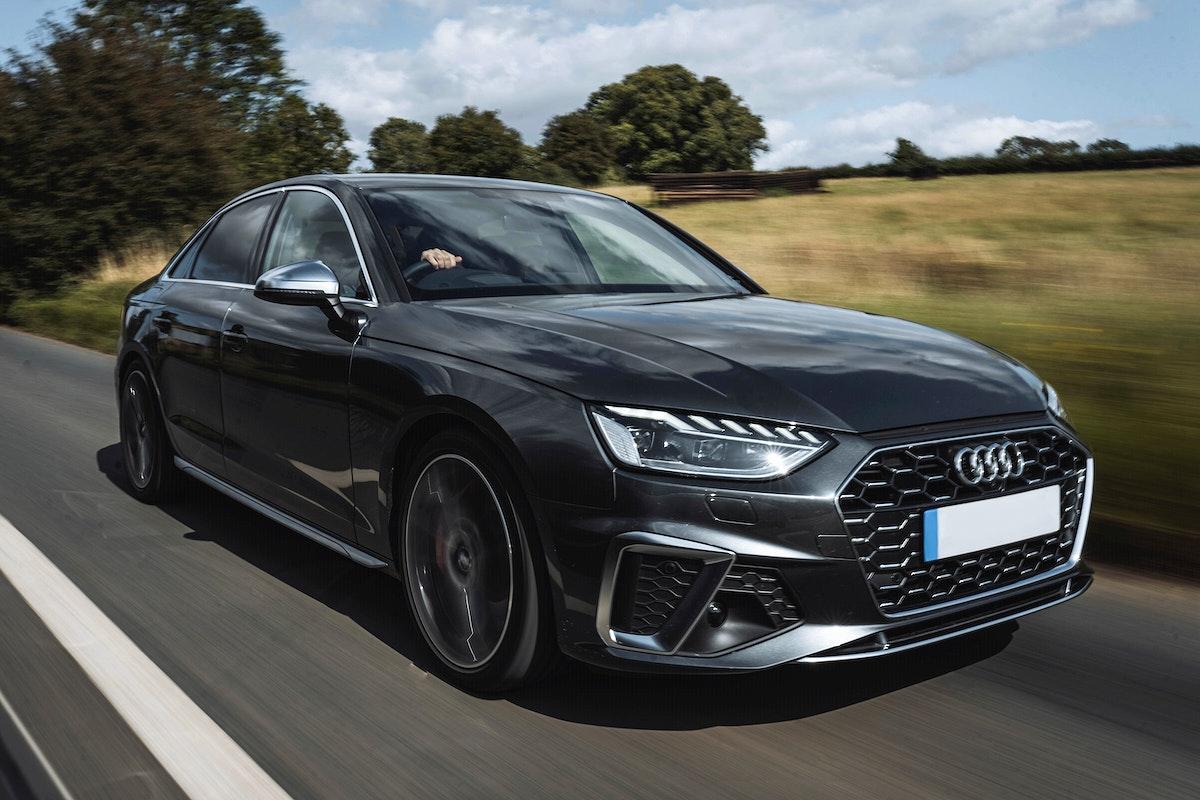 COTSWOLDS, UK - AUGUST, 2019: Audi S4 test drive