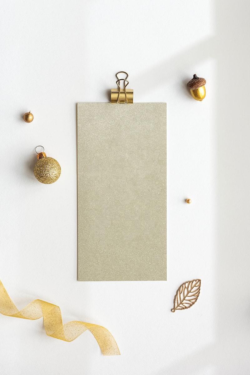 Closeup of a Christmas tag decorations