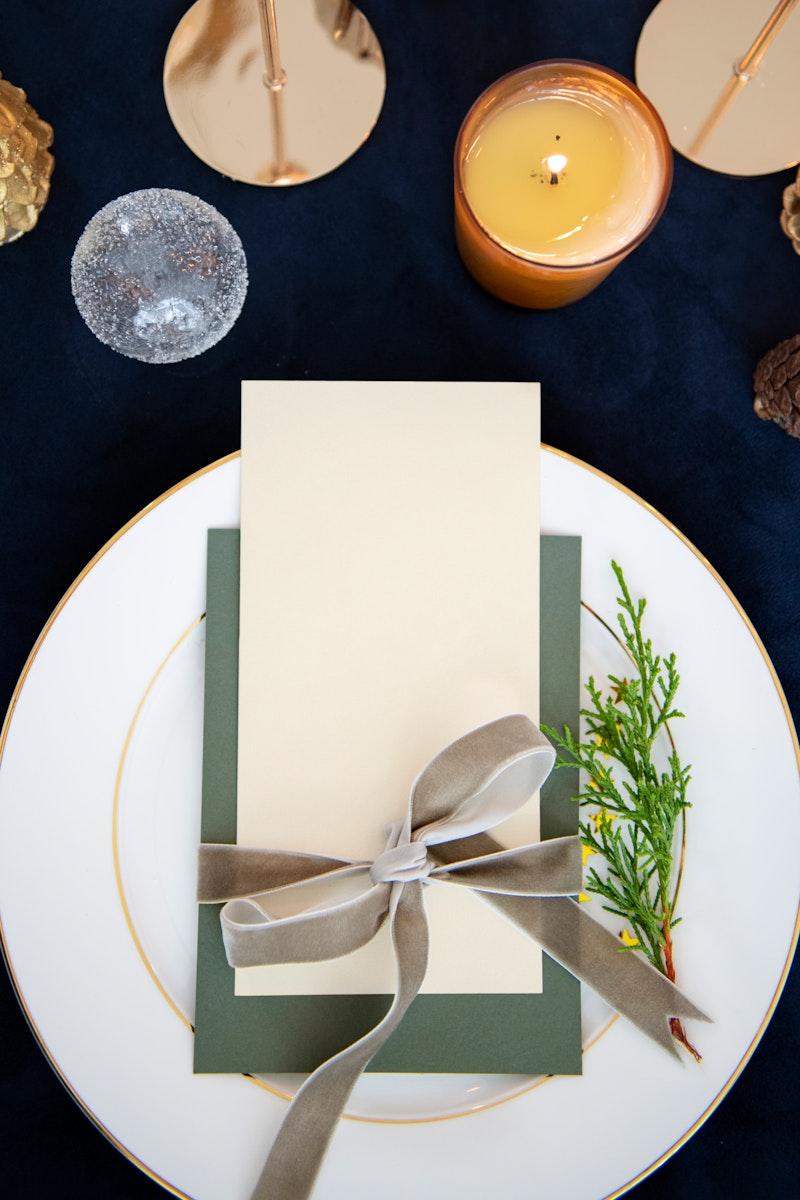 Closeup of a Christmas greeting card