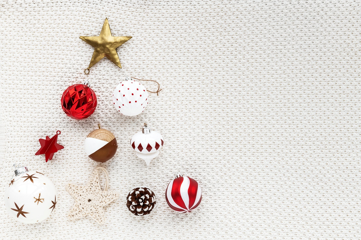 Festive baubles and stars frame