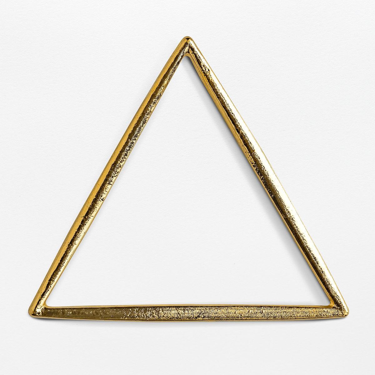 Shiny golden triangle frame design