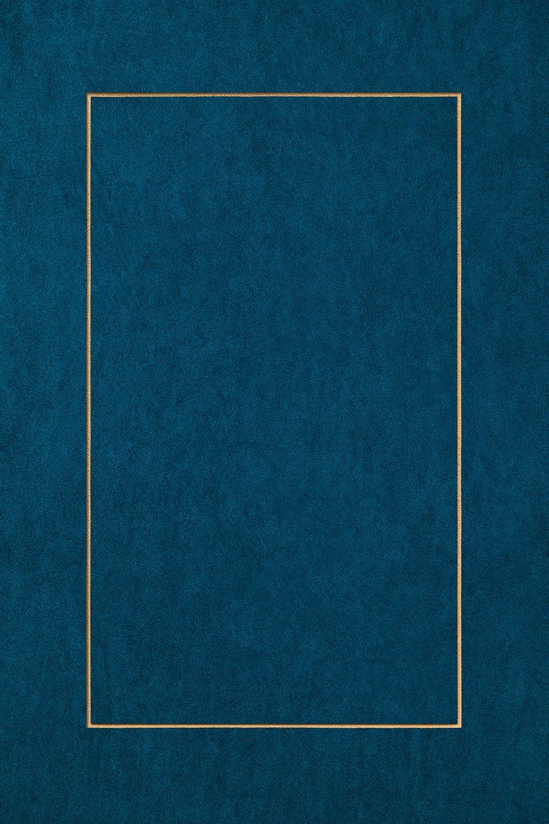 Golden rectangle on a blue background