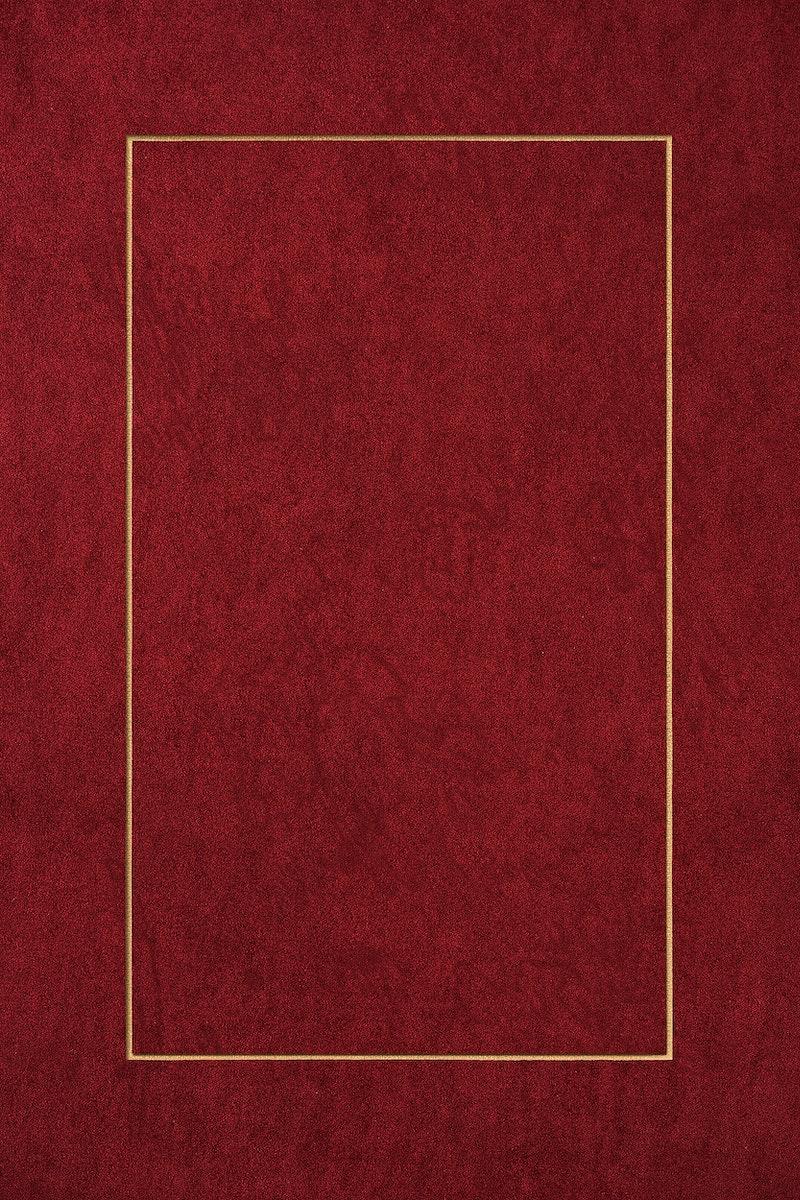 Blank red golden frame design