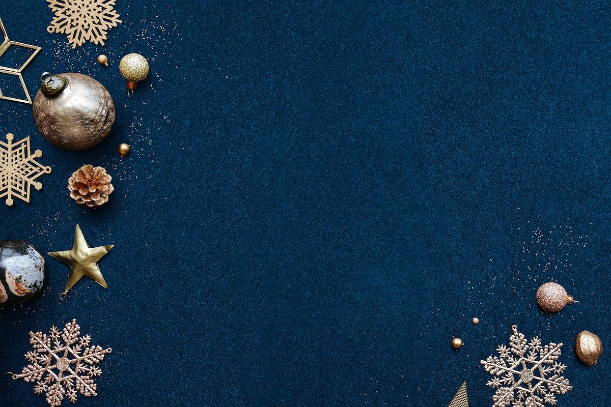 Navy blue Christmas frame design