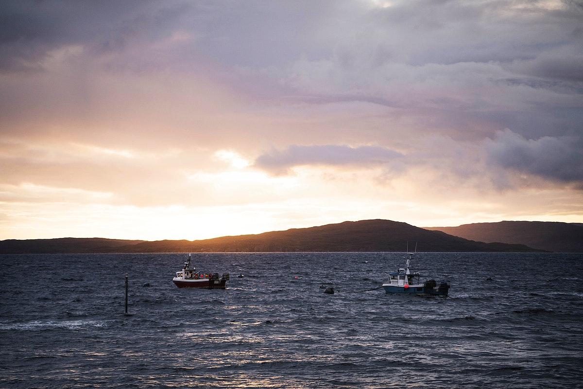 Fishing boat near Isle of Skye, Scotland