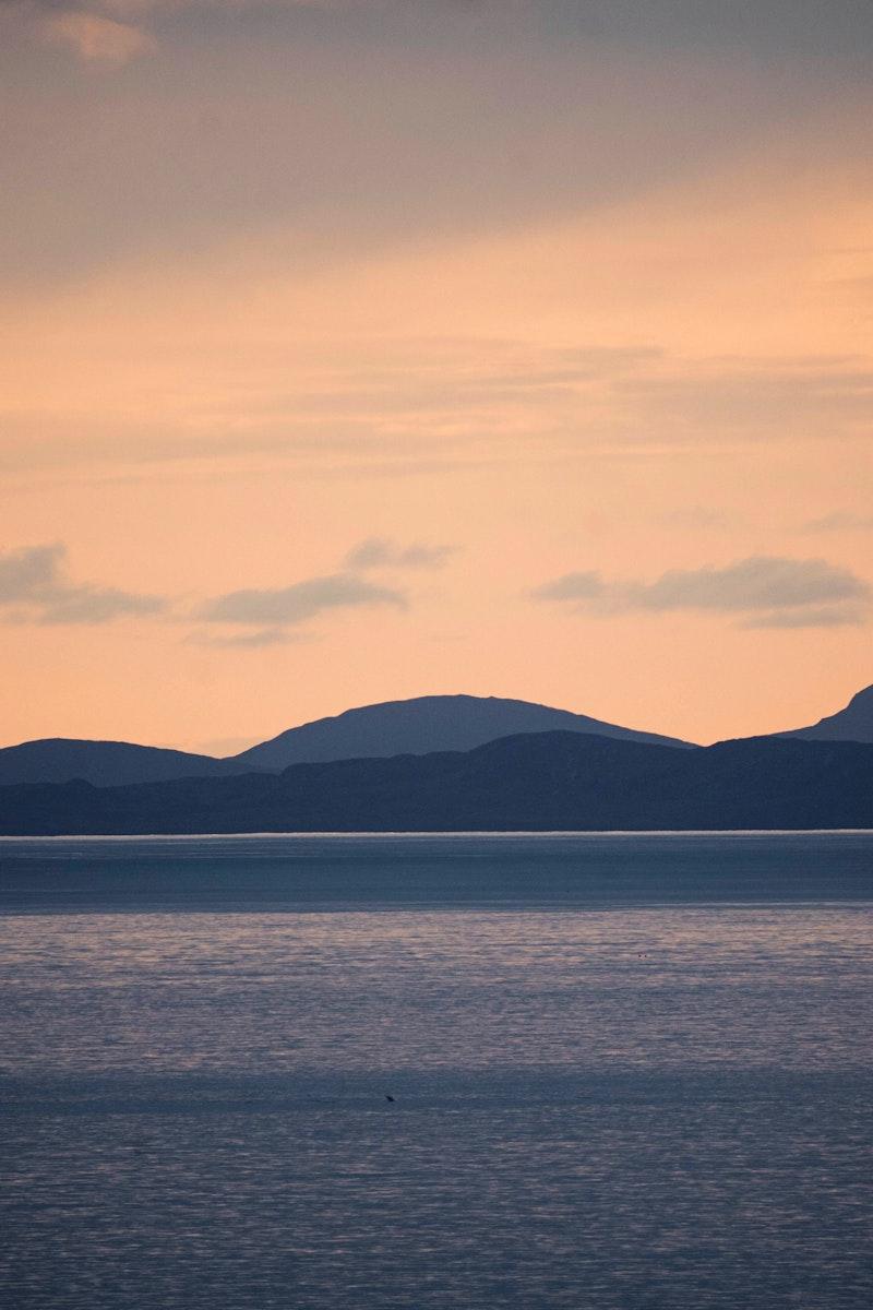 Sunset view of Isle of Skye, Scotland