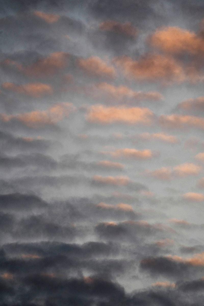 Pastel cloudy sky over  Isle of Skye, Scotland
