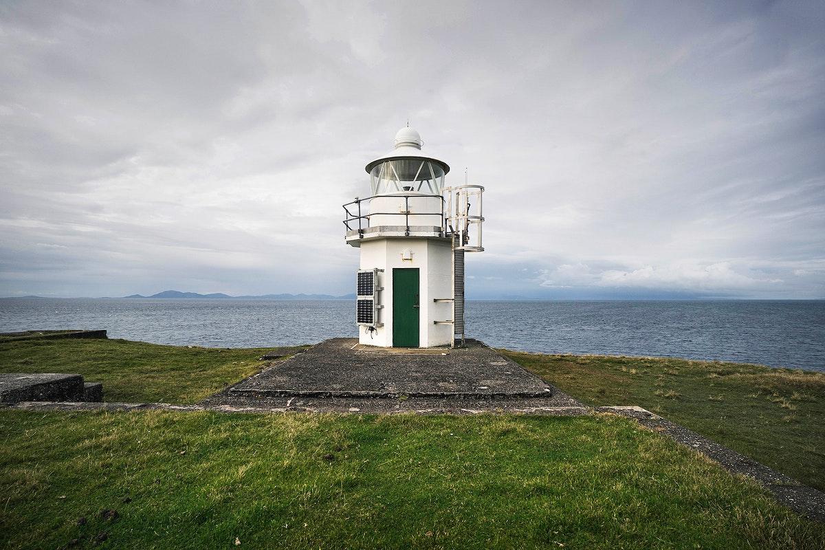 View of Vaternish Lighthouse on Isle of Skye, Scotland