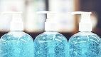 Hand sanitizer in pump bottles