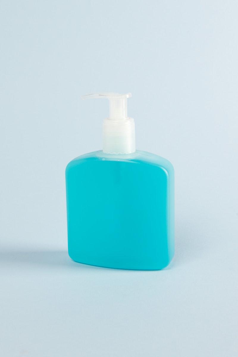 Hand sanitizer gel in a pump bottle