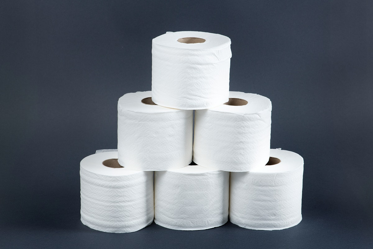 Stack of toilet paper