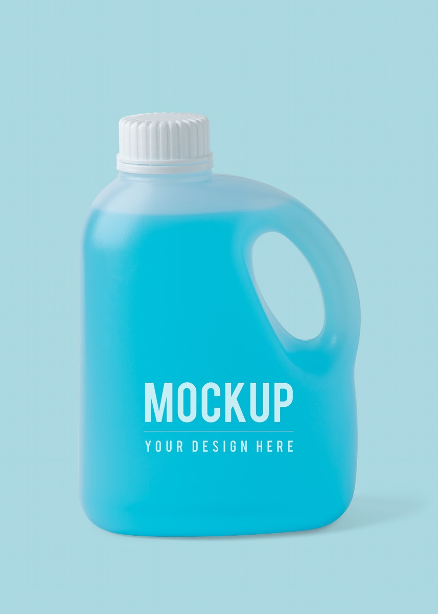 Hand sanitizer in a gallon mockup