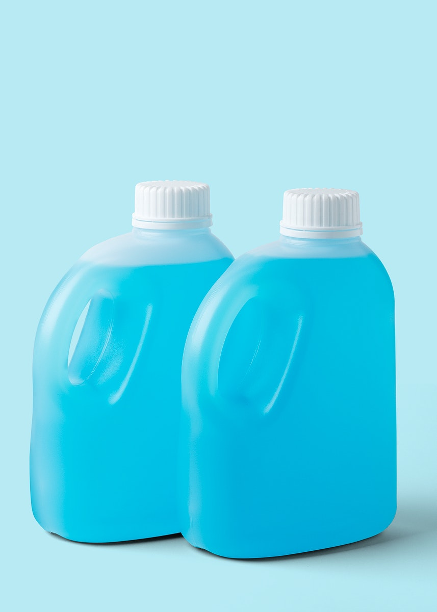 Two bottles of antibacterial hand sanitizer