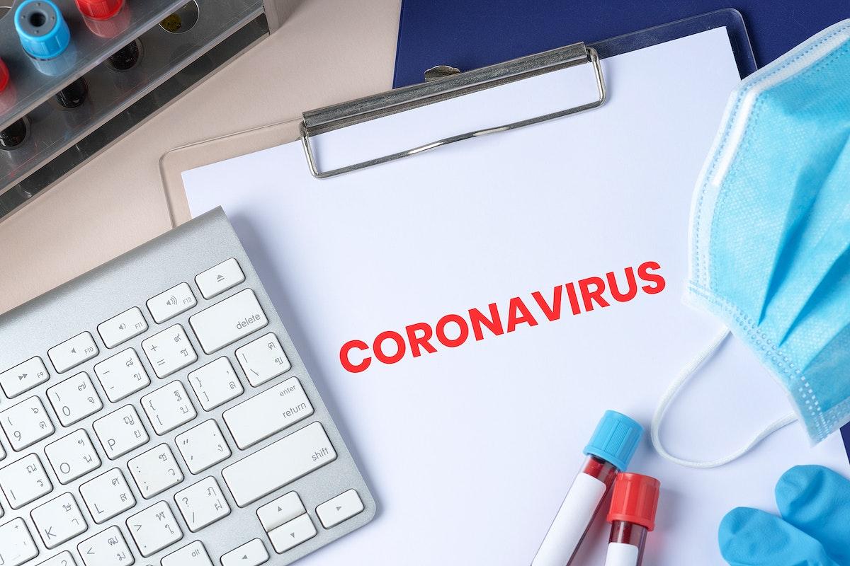 Coronavirus pandemic social banner