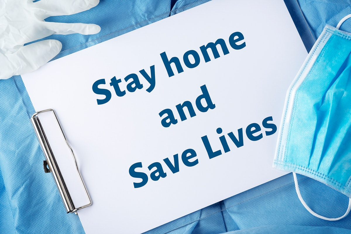 Stay home and save lives template