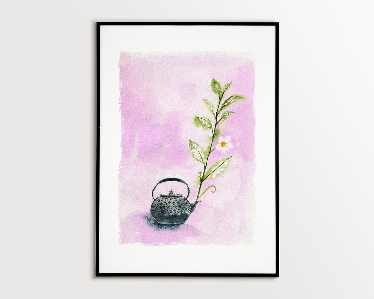 Abstract fine art print in frame