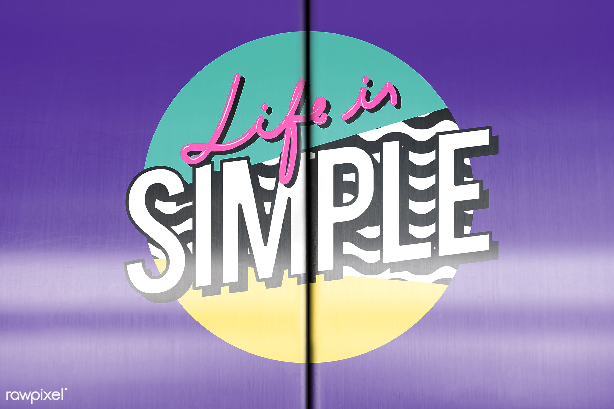 elevator, purple, close, copy space, design, door, life is simple, mock up, mockup, phrase, simple, style