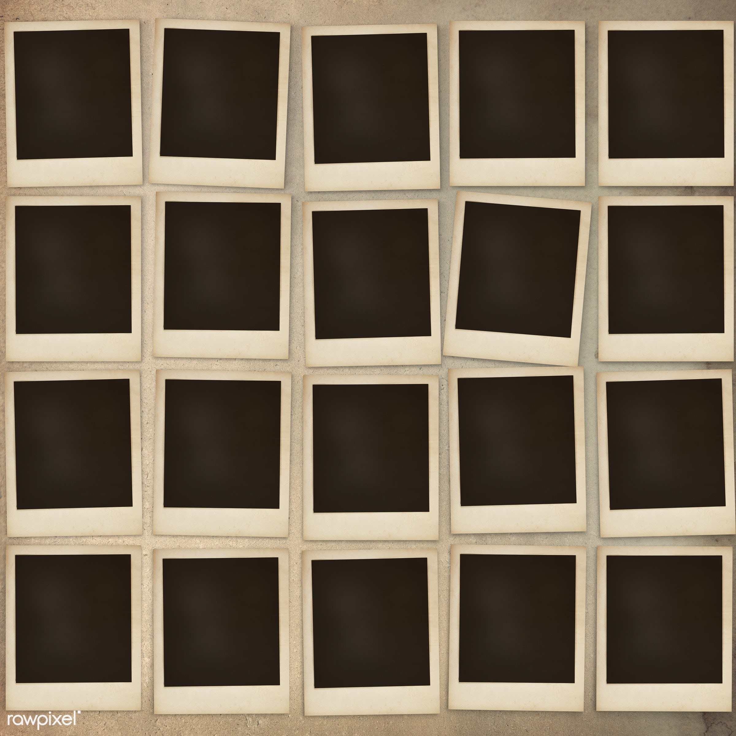 Photo frames in a square on a wall - frame, mockup, photograph, border, photo, vintage, blank, classic, copy space, creative...